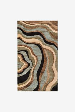 Woven Blue Waves Rug
