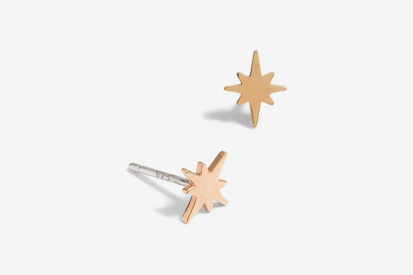 Madewell Vermeil Bright Star Stud Earrings
