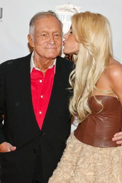 06 May 2011, Las Vegas, Nevada, USA --- Hugh Hefner and Crystal Harris pictured at Playboy Playmate of The Year Announcement Ceremony at MOON Nightclub at Palms Casino Resort in Las Vegas, NV on May 6, 2011. Miss October 2010 was named 2011 Playboy Playmate of The Year by Hugh Hefner. © RD/ Kabik ***HOUSE COVERAGE*** --- Image by ©  RD / Kabik /Retna Ltd./Corbis