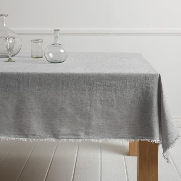 Parachute Chambray Fringe Tablecloth