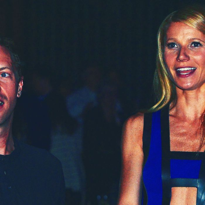 Chris Martin and Gwyneth Paltrow.