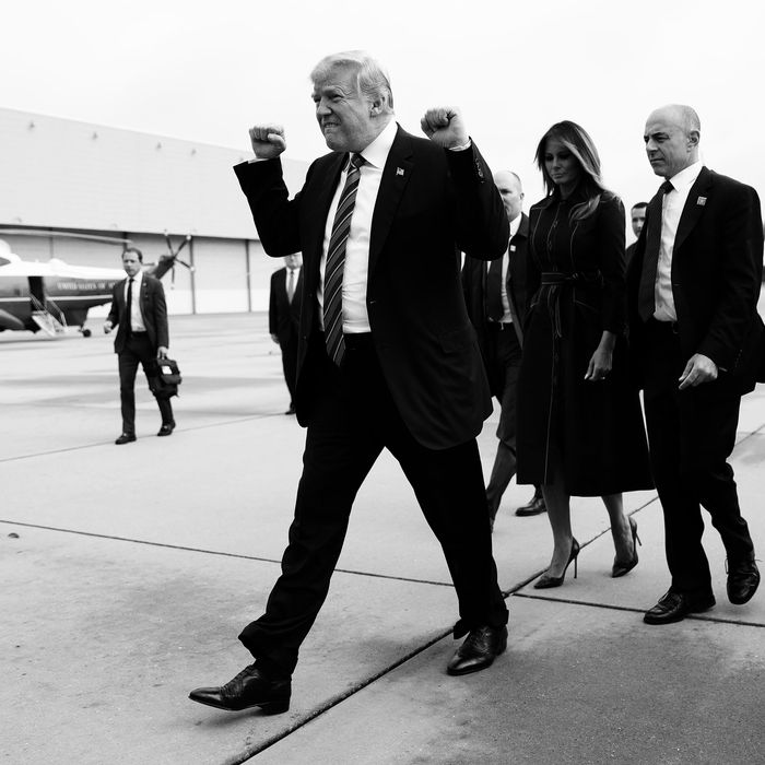 Trump headed to visit a 9/11 memorial site in Pennsylvania.
