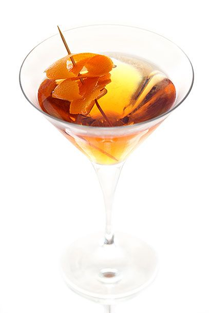 "<b>St. Thomas Porter</b>   <i><a href=""http://www.facebook.com/pages/Valkyrie/312738182093955?sk=info"">Valkyrie</a>, Tulsa</i>   The best cocktail bar in Oklahoma makes this version of a Manhattan with clear whiskey: In a mixing glass combine 1 1/2 ounce clear whiskey (Valkyrie uses <a href=""http://www.craftdistillers.com/trade/Low_Gap_whiskey"">Low Gap</a>), 1 ounce Lillet Blanc, 1/2 ounce Cointreau, and 1 dash clove bitters (or <a href=""http://the-bitter-truth.com/bitter/jerry-thomas/"">Bitter Truth's Jerry Thomas's Own Decanter Bitters</a>). Stir with ice for 25 seconds and strain into a chilled coupe glass. Garnish with a large orange twist."
