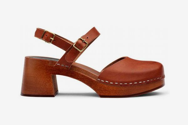 Swedish Hasbeens Irene Sandals in Cognac