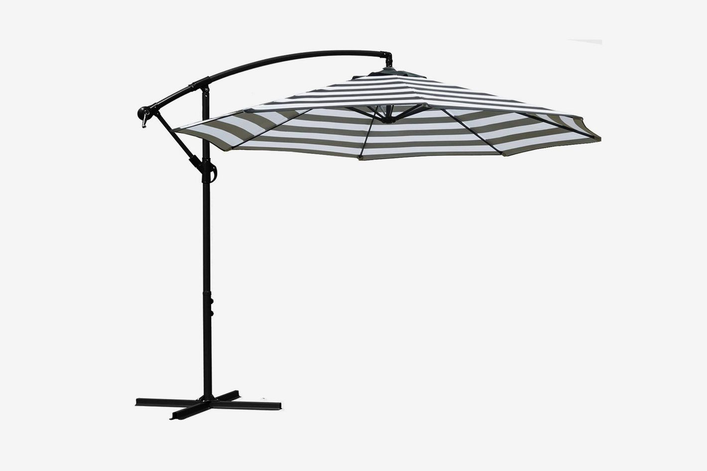 Sunnyglade 10' Outdoor Adjustable Offset Cantilever Hanging Patio Umbrella