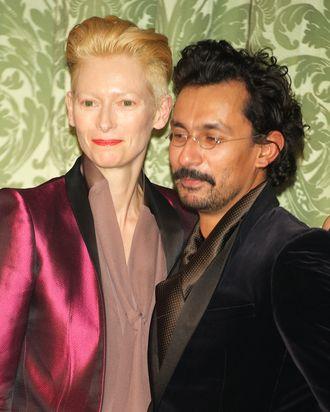 Tilda Swinton and Haider Ackermann.