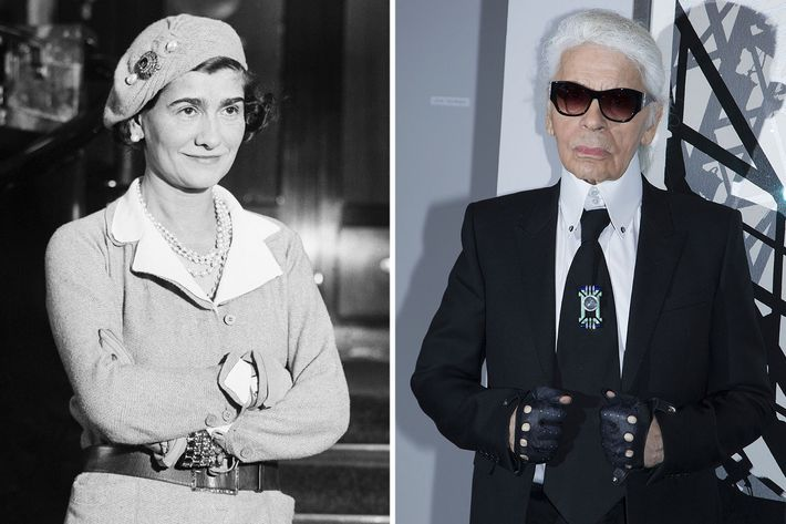 Coco Chanel and Karl Lagerfeld.