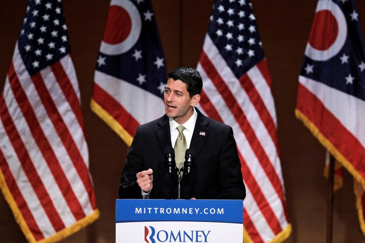 Republican vice presidential candidate Rep. Paul Ryan, R-Wis. gestures while speaking about upward mobility and the economy during a campaign rally at the Walter B. Waetjen Auditorium at Cleveland State University, Wednesday, Oct. 24, 2012, in Cleveland.
