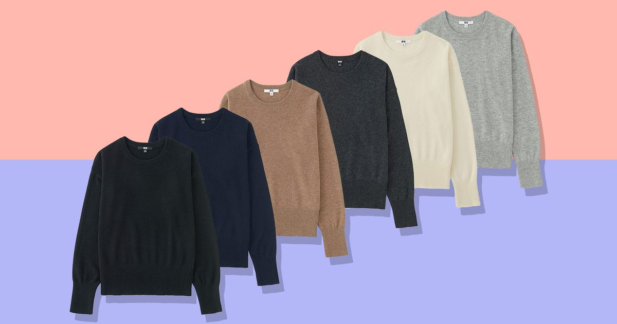 This Cashmere Sweater From Uniqlo Is 50 Percent Off