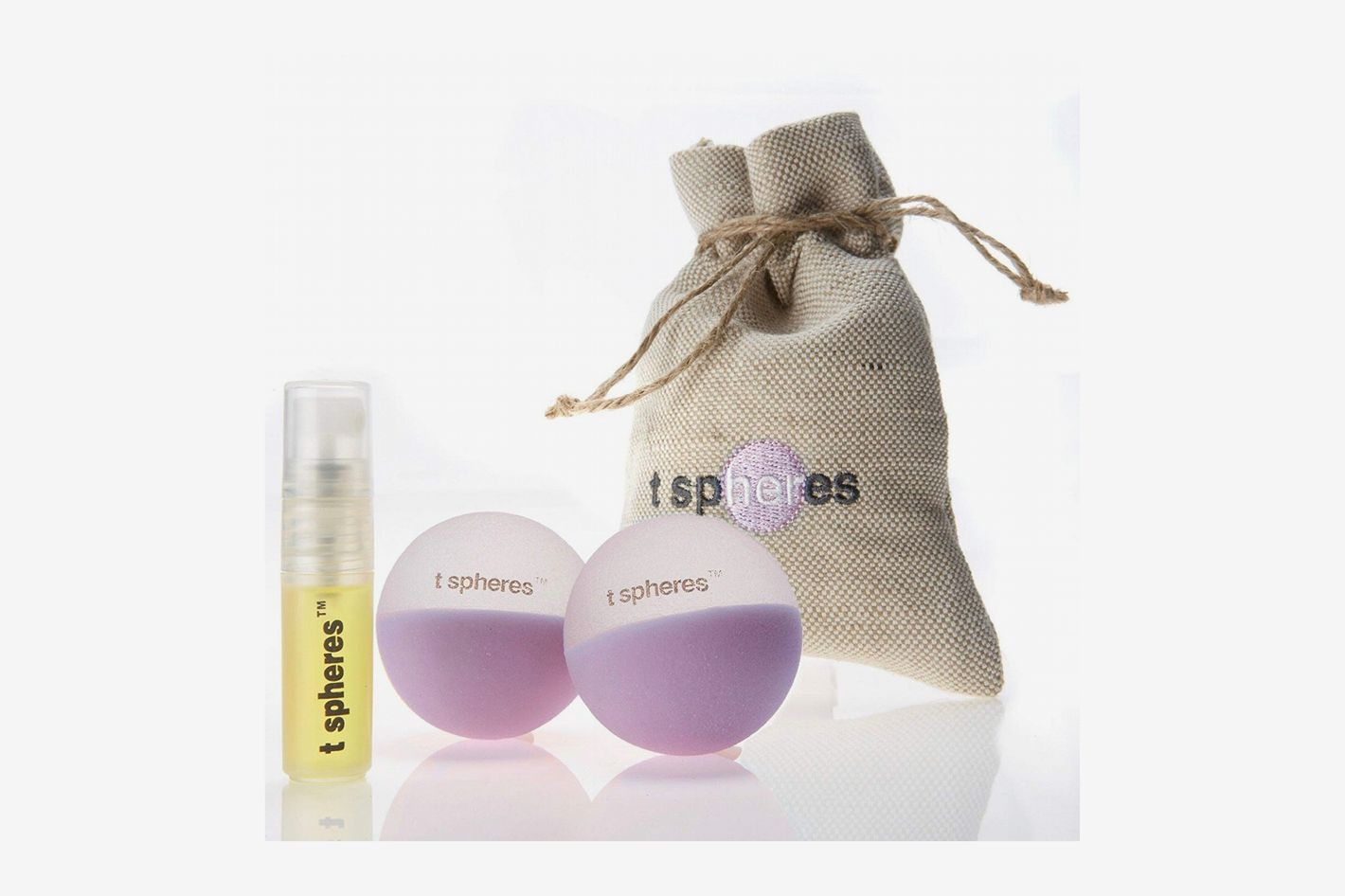 T Spheres Peace & Quiet Aromatherapy Infused Massage Ball Set (Lavender Aroma)