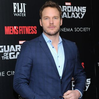 NEW YORK, NY - JULY 29: Actor Chris Pratt attends The Cinema Society with Men's Fitness & FIJI Water host a screening of