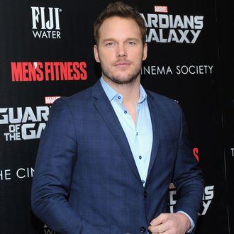 NEW YORK, NY - JULY 29: Actor Chris Pratt attends The Cinema Society with Men's Fitness & FIJI Water host a screening of