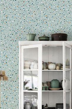 patternsColoray Neutral Light Green Terrazzo Wallpaper