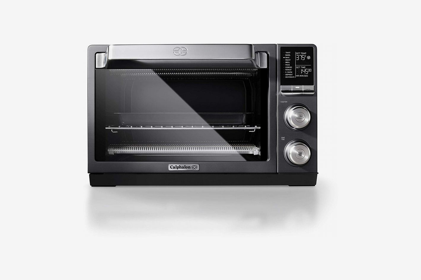Calphalon Quartz Heat Countertop Toaster Oven, Dark Stainless Steel