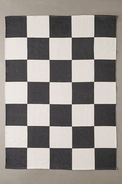 Urban Outfitters Overscale Checkerboard Printed Rug