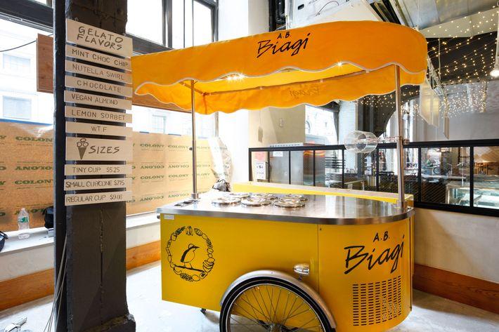 A.B. Biagi has a gelato cart.