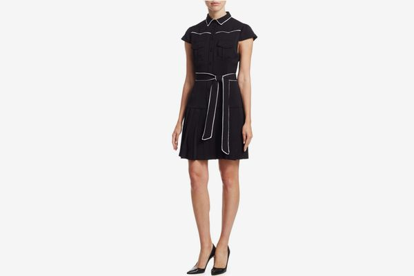 Alice + Olivia Yoko Pleated Shirt Dress