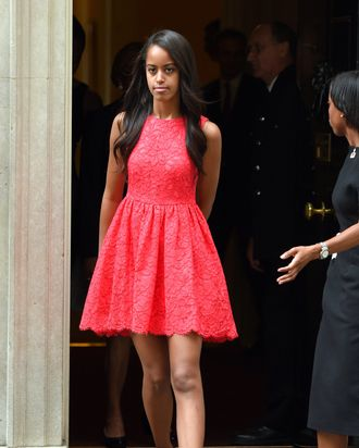 Malia Obama, future campus queen.