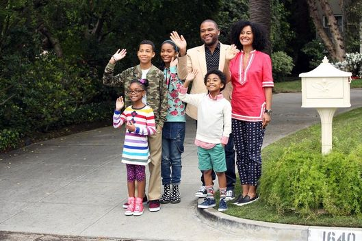 "BLACK-ISH - ""Pilot"" - ""black-ish,"" a bold new comedy that takes a multi-generational look at contemporary family issues, premieres WEDNESDAY, SEPTEMBER 24 (9:31-10:00 p.m., ET) on the ABC Television Network. Like any parents, Andre ""Dre"" (Anthony Anderson) and Rainbow (Tracee Ellis Ross) Johnson want to give their children the best. But their offspring's childhood is turning out to be much different than theirs. They now realize at least two things: There is a price to pay for giving their children more than what they ever had, and these loving parents are totally unprepared for the fallout. ""Pops"" (Laurence Fishburne), Dre's dad, takes every opportunity to offer his old school opinion on family issues. (ABC/Adam Taylor)MARSAI MARTIN, MARCUS SCRIBNER, YARA SHAHIDI, ANTHONY ANDERSON, MILES BROWN, TRACEE ELLIS ROSS"