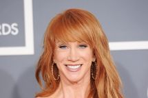 Comedian Kathy Griffin arrives at the 54th Annual GRAMMY Awards