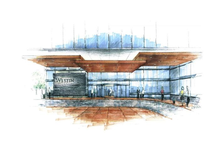 A rendering of the new Westin.