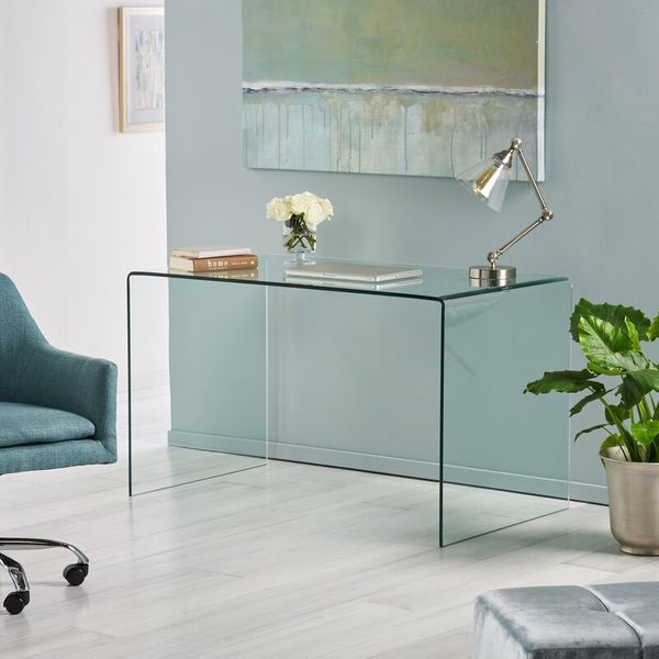 Joss & Main Bauer Glass Desk