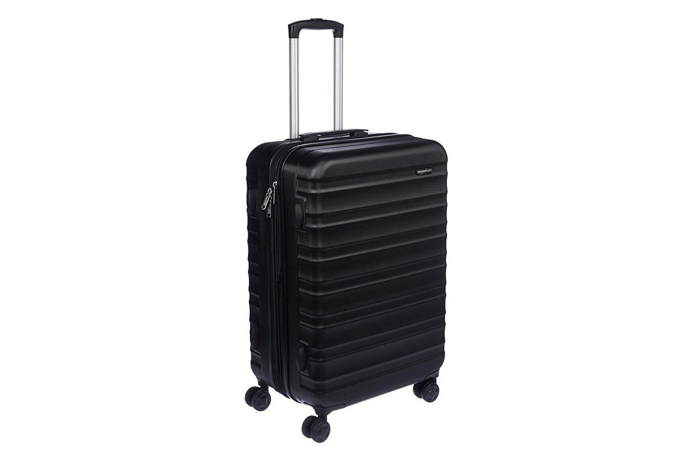AmazonBasics Hardside Spinner Luggage, Black, 24-inch