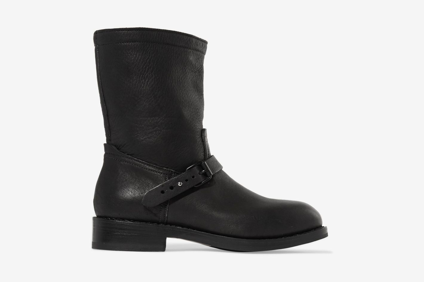 Rag & Bone Textured Leather Ankle Boots