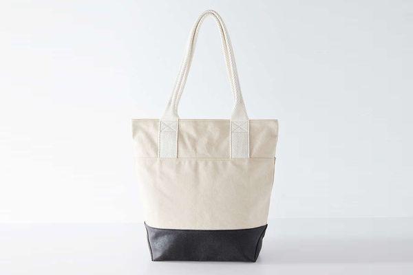 Tonal Colorblocked Shopper Tote Bag