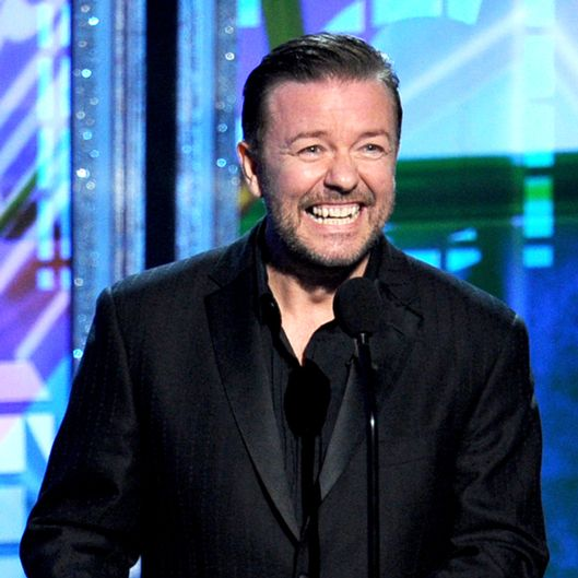 Actor Ricky Gervais speaks onstage during the 64th Annual Primetime Emmy Awards at Nokia Theatre L.A. Live on September 23, 2012 in Los Angeles, California.