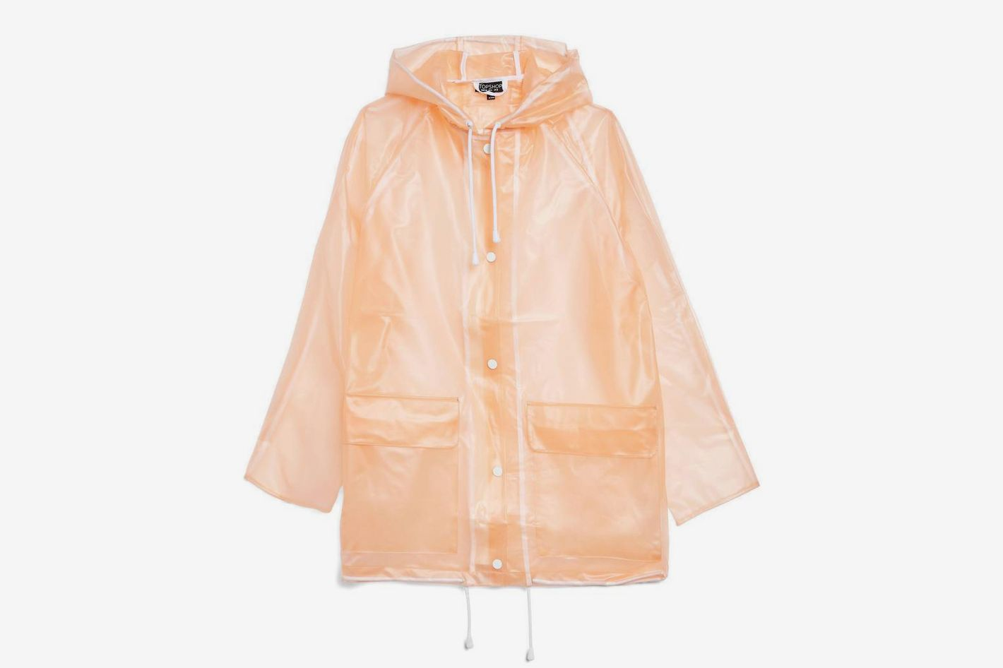 Frosted Marge Mac Rain Jacket by Topshop