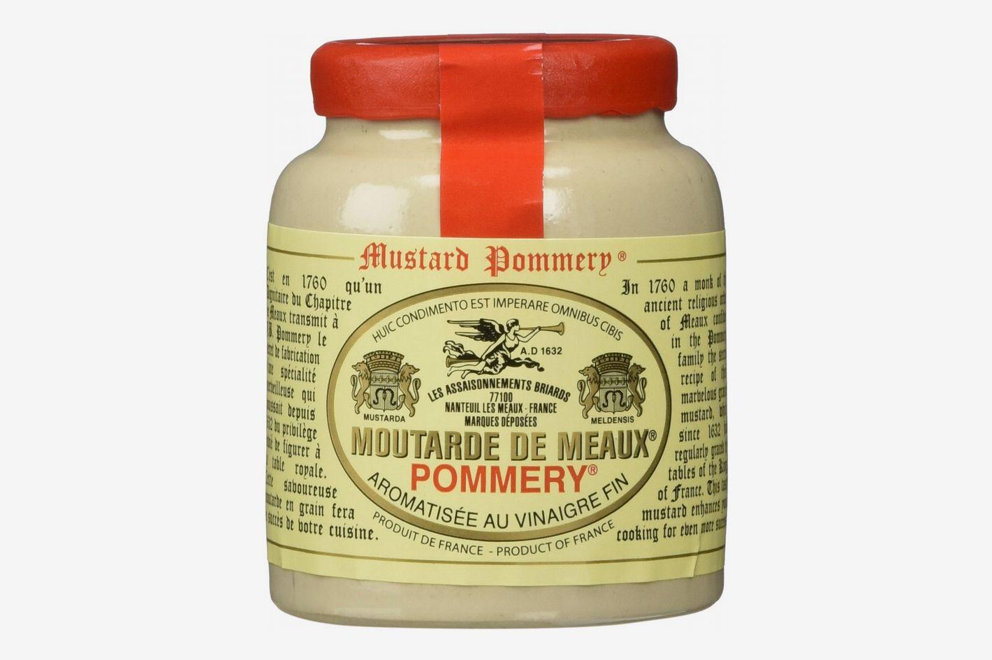 Pommery Mustard Meaux Moutarde in Pottery Crock