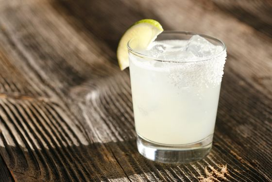 The Margarita: blanco tequila, orange curacao, fresh lime, coarse salt
