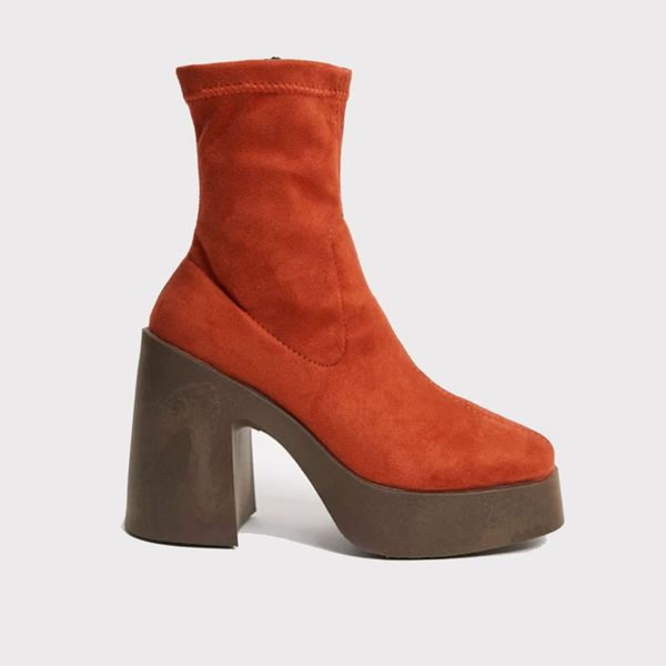 Asos Design Elsie High Heeled Sock Boot