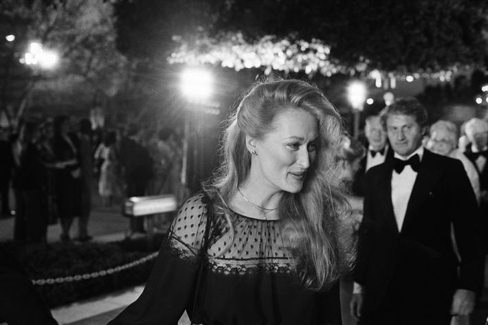 Meryl Streep Arriving at Academy Awards         Original caption:4/9/1979-Hollywood, CA: Actress Meryl Streep arrives at the Music Center for the Academy Award presentations.