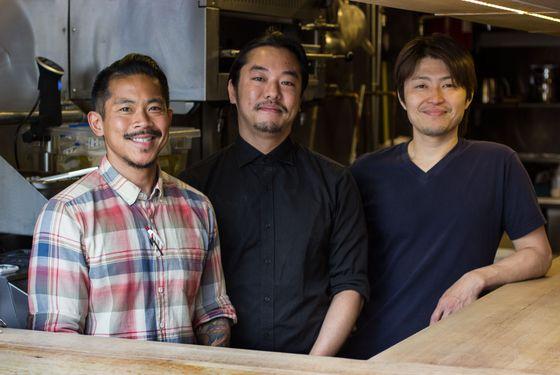 The Ichicoro team: Noel Cruz, Masaru Takaku, and Chikira Hiratsu.