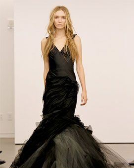 One of Vera Wang's black wedding gowns.