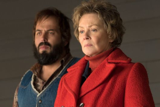 "FARGO -- ""The Myth of Sisyphus"" -- Episode 203 (Airs October 26, 10:00 pm e/p) Pictured: (l-r) Angus Sampson as Bear Gerhardt, Jean Smart as Floyd Gerhardt. CR: Chris Large/FX"