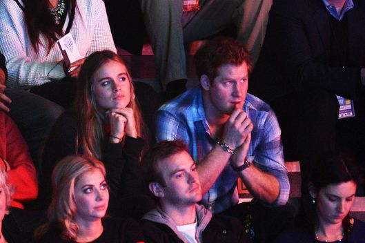 Cressida Bonas and Prince Harry attend We Day UK, a charity event to bring young people together at Wembley Arena on March 7, 2014 in London, England.