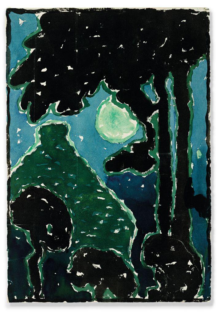 See Georgia O'Keeffe's Preserved Watercolors