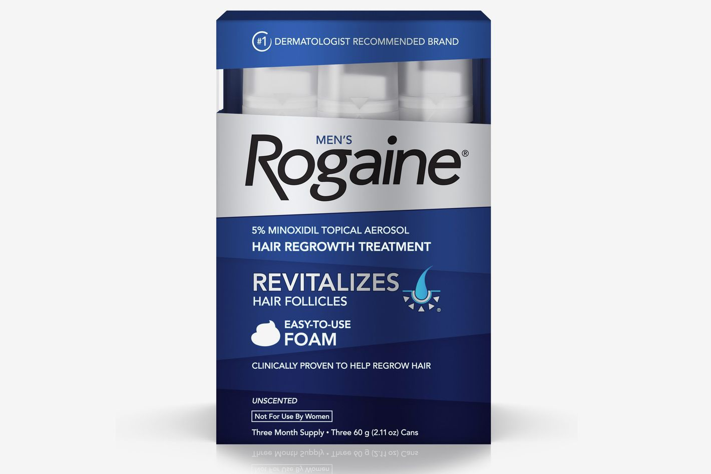 Rogaine Men's Minoxidil Hair Thinning & Loss Treatment Foam, Three Month