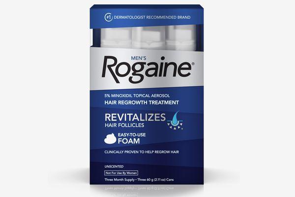 Rogaine Men's Minoxidil Hair Thinning & Loss Treatment Foam, Three Month