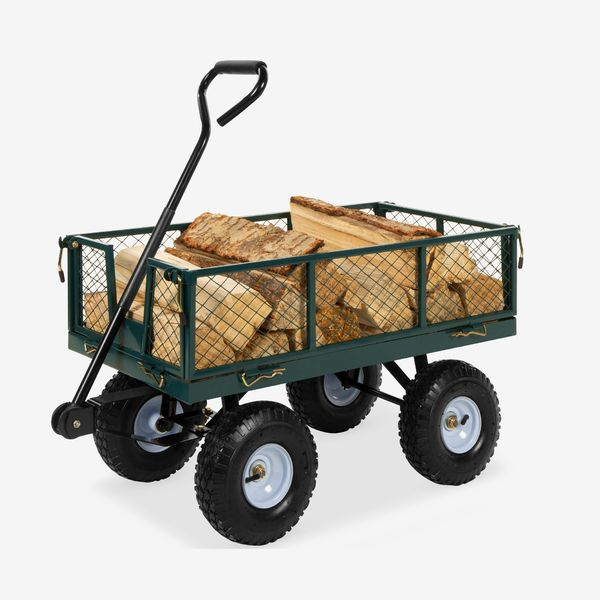 Best Choice Products 400-lb Steel Garden Cart with Handle