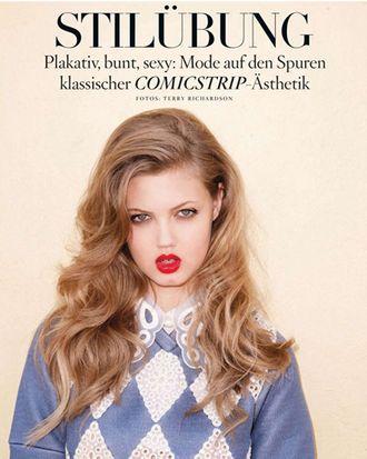 Lindsey Wixson for German <em>Vogue</em>.