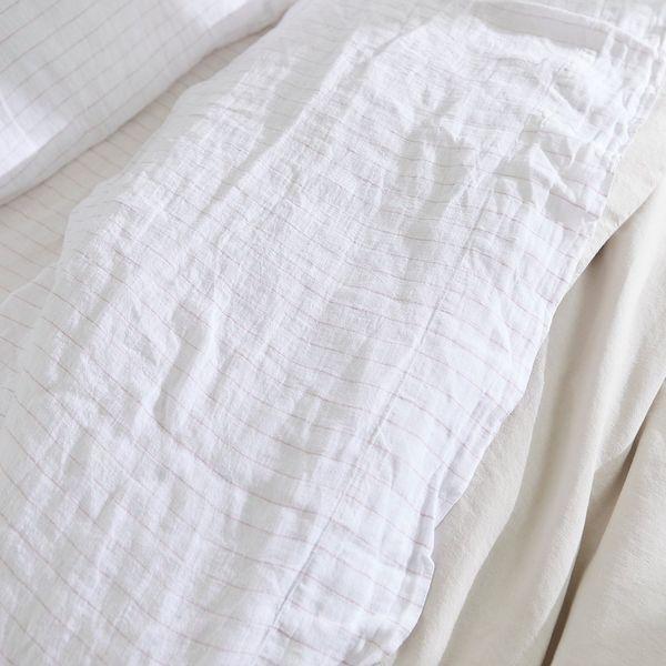 Parachute Pinstripe Linen Top Sheet