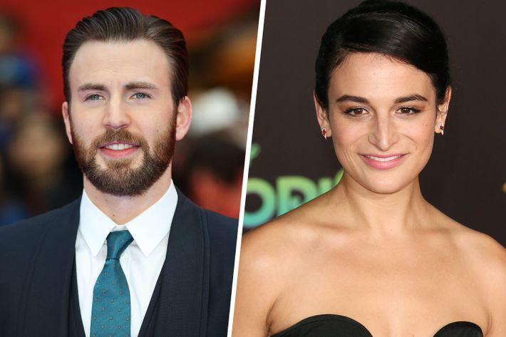 Chris Evans and Jenny Slate