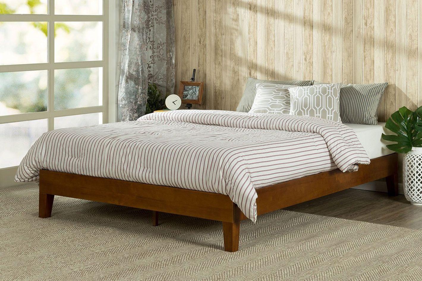 Zinus 12-Inch Deluxe Wood Platform Bed — King