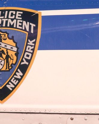 A New York Police Department emblem reading