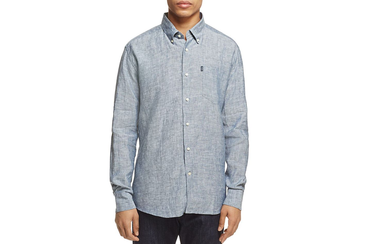 Barbour Frank Linen Regular Fit Button-Down Shirt