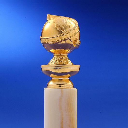 This undated photo shows the Golden Globe statuette. GOLDEN GLOBE(S), HOLLYWOOD FOREIGN PRESS ASSOCIATION and GOLDEN GLOBE statuette design mark are the registered trademarks and service marks and the GOLDEN GLOBE statuette the copyrighted property, of the Hollywood Foreign Press Association.